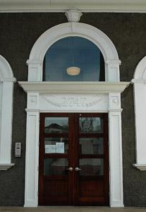 Gymnasium main door and window