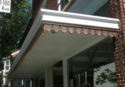 Canopy frame ornamentation